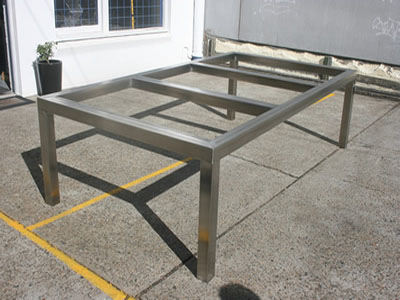 Stainless steel table frame